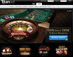 La lobby di Titan Bet Casino AAMS