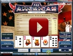 video poker all american