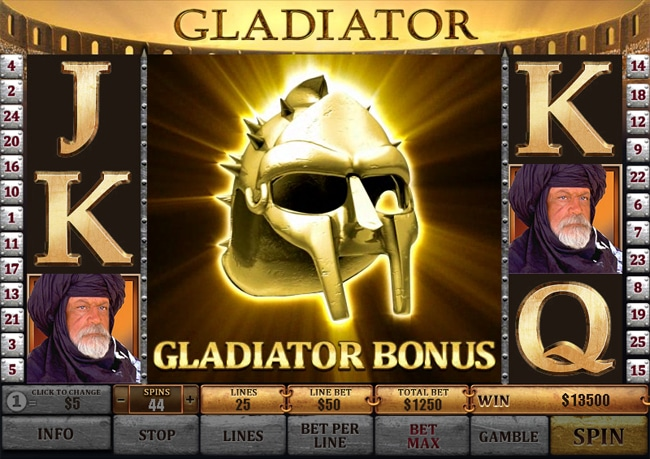 slot machine gladiator