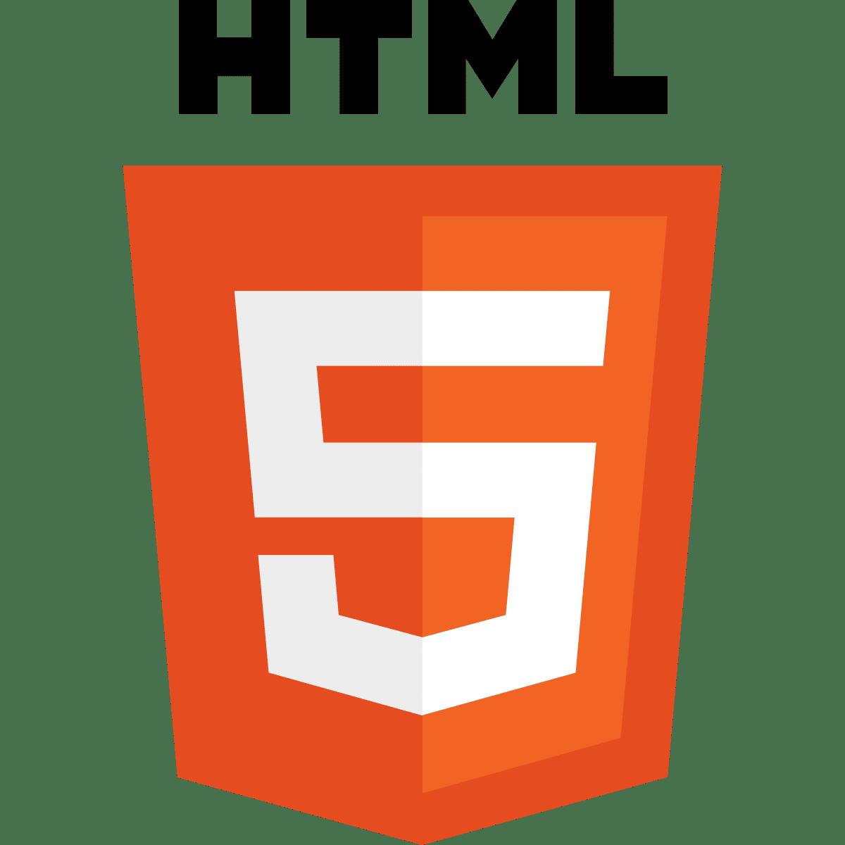 il logo di html5
