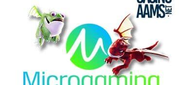 Il logo di Microgaming per i casino online aams