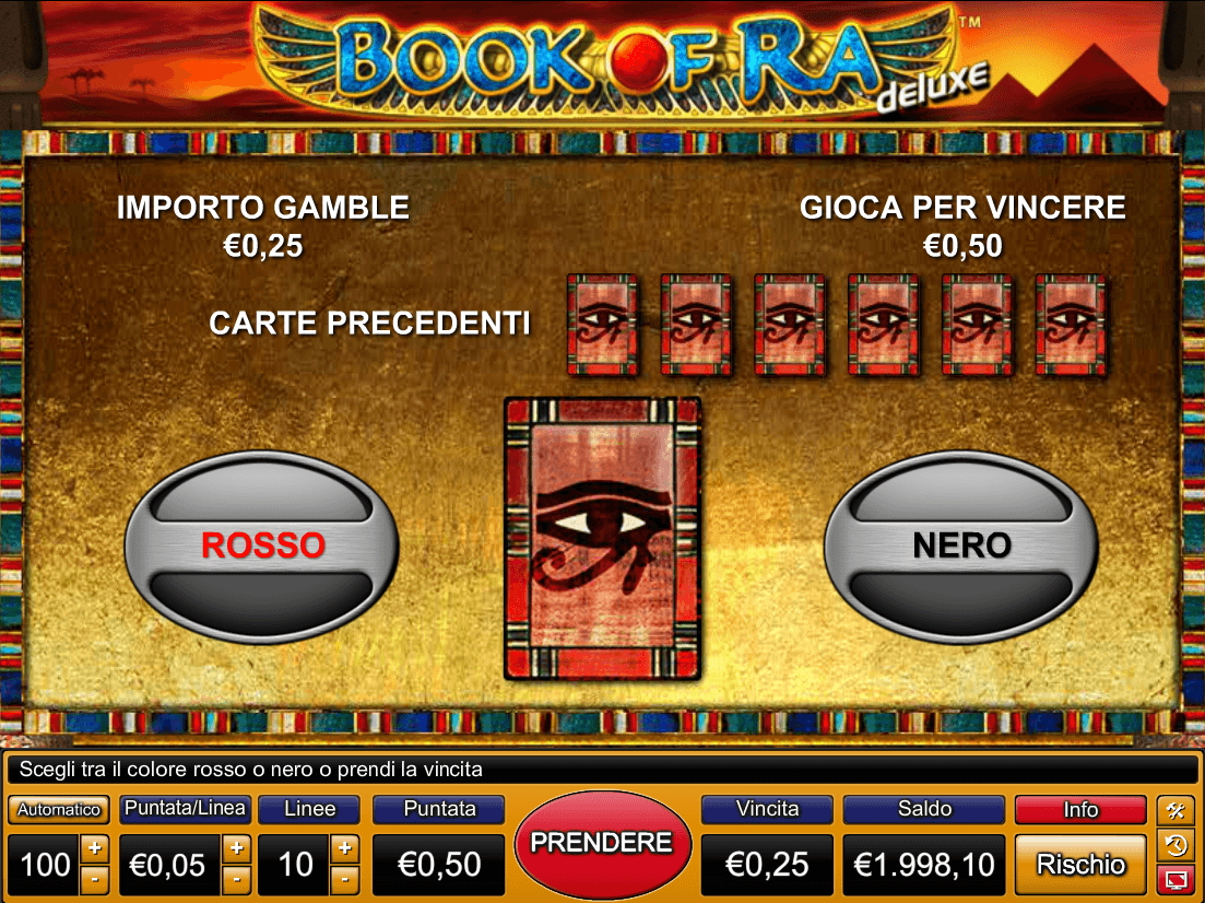 gioco bonus bookk of ra gratis