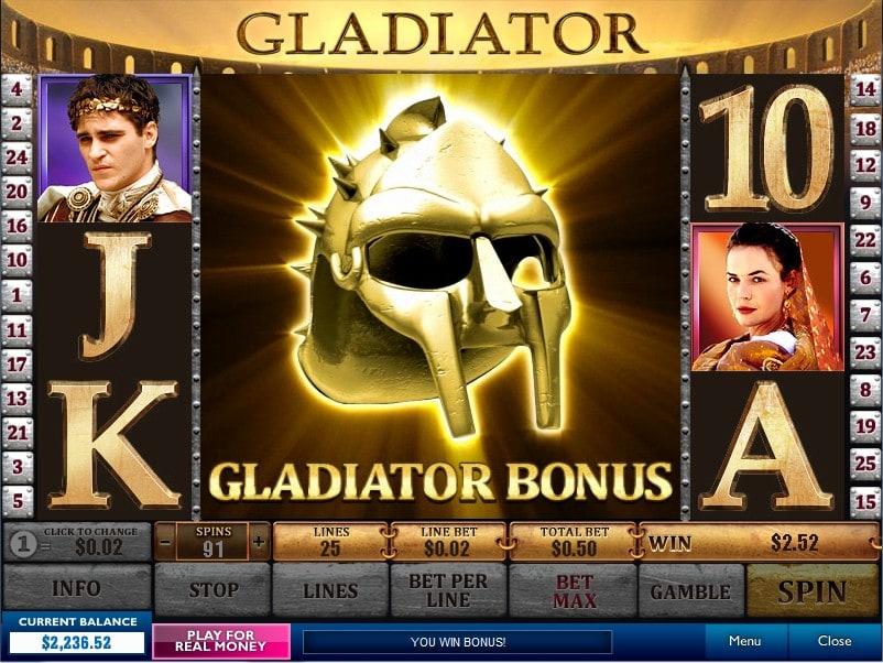 bonus slot gladiator