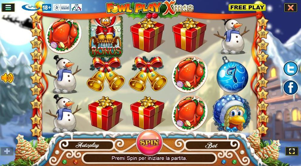 screenshot gallina Natale