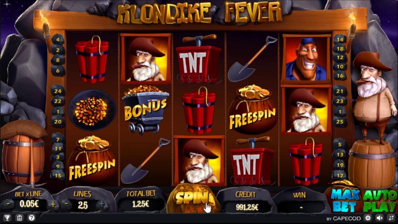 Klondike slot machine miniera