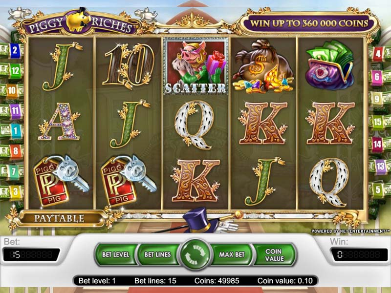 screenshot slot salvadanaio Piggy Riches