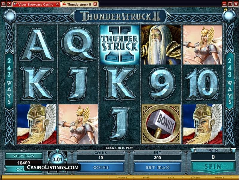 slot thundestruck 2 screenshot
