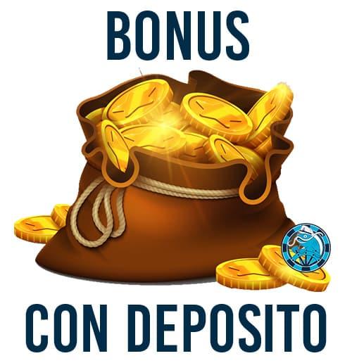 Il bonus CON deposito dei migliori casino online aams